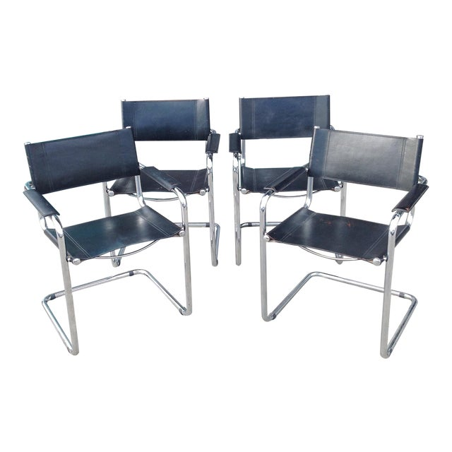 Mark Stam Vintage Cantilever Arm Chairs - Set of 4 - Image 1 of 8