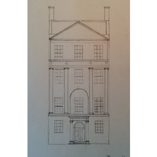 Junior League House New York Architectural Rendering 1984 For Sale