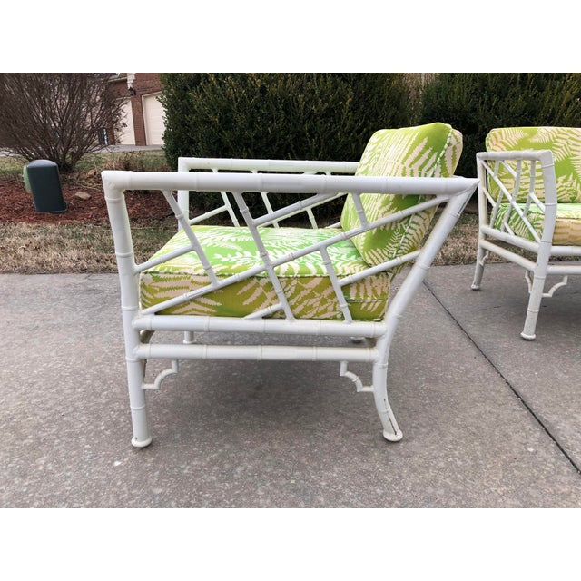 Vintage Meadowcraft Faux Bamboo Outdoor Patio Set For Sale - Image 4 of 7 - Vintage Meadowcraft Faux Bamboo Outdoor Patio Set Chairish
