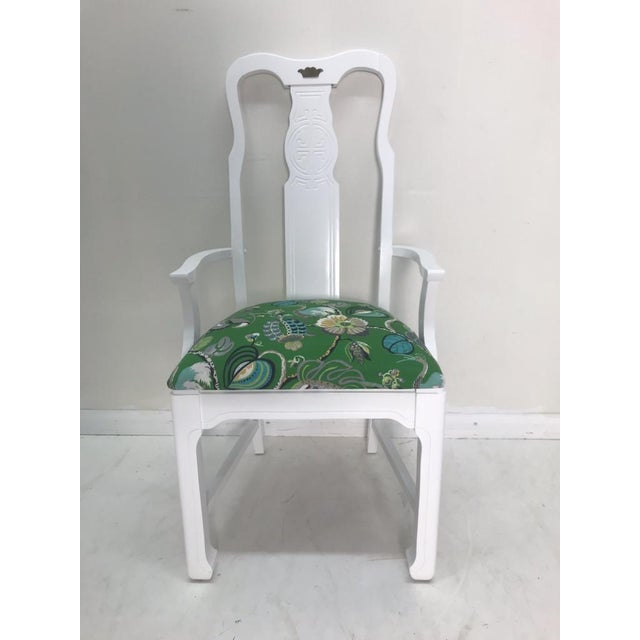 Vintage Asian Chinoiserie Style Dining Chairs - Set of 8 For Sale - Image 4 of 10