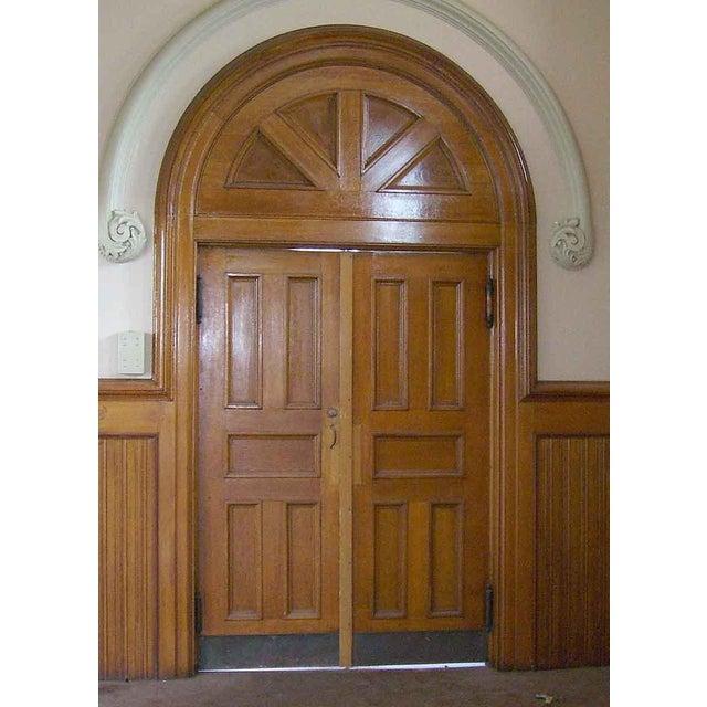 Oak Double Church Entry Doors A Pair Chairish