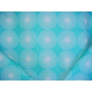 Transitional Kravet Adler Solara Lagoon Sunburst Print Drapery Upholstery Fabric - 2-1/2y For Sale