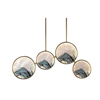 """""""Enamel Color"""" Retro Chinese Style All-Copper Chandelier For Sale"""