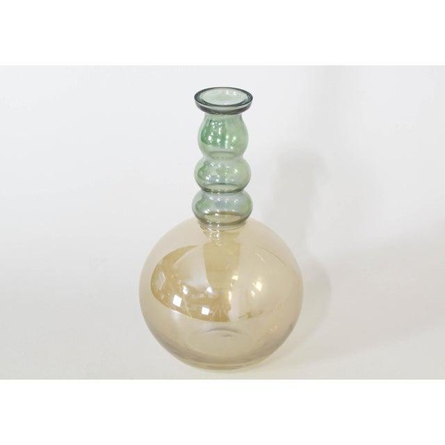 Vintage Decorative Glass Vase For Sale - Image 4 of 7