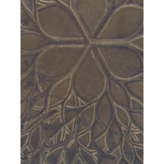 """1970s Vintage Ruth Asawa """"Flower"""" Cast Bronze Bas Relief Sculpture For Sale - Image 4 of 7"""