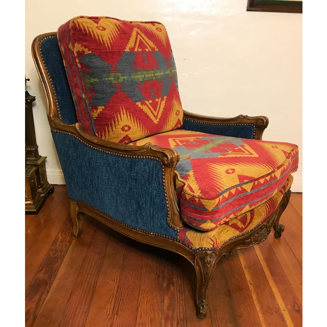 19th Century French Upholstered and Carved Armchair For Sale - Image 13 of 13