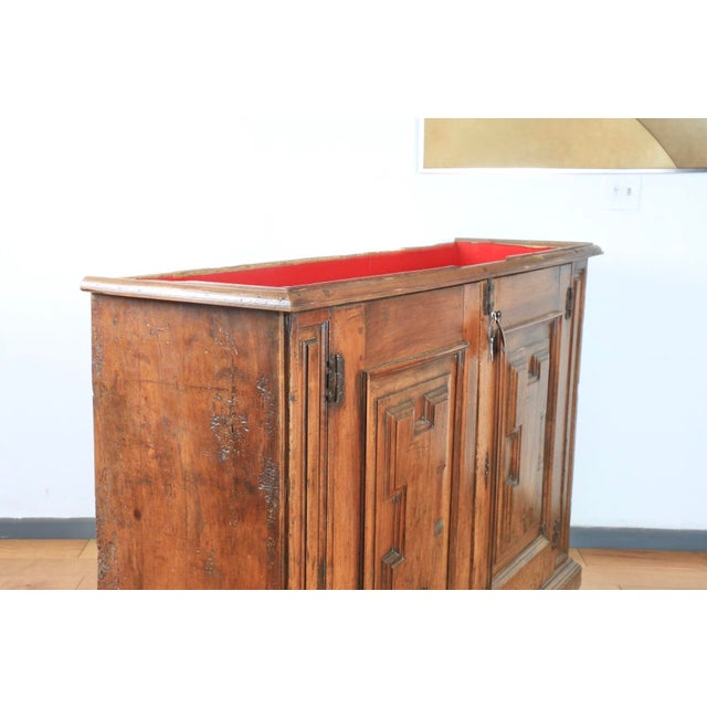 Late 1800's Rustic 2 Piece Italian Cabinet For Sale - Image 9 of 13