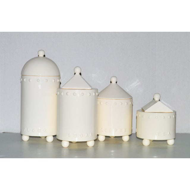 Swid Powell Tigerman McCurry Ceramic Canisters - Set of 4 - Image 2 of 9