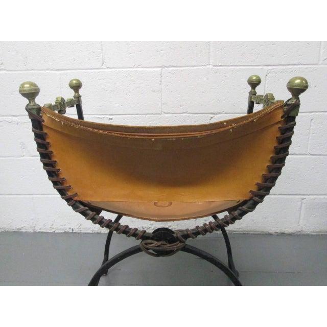 Italian Curule Savonarola Chair For Sale - Image 4 of 9
