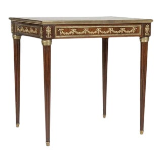 Late 19th Century Brass Inlaid & Bronze Mounted Side Table For Sale