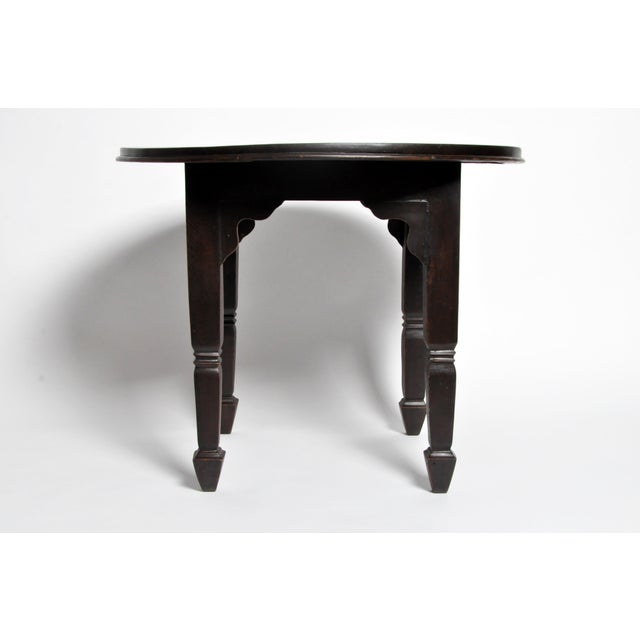 British Colonial Burmese Round Table For Sale - Image 4 of 11