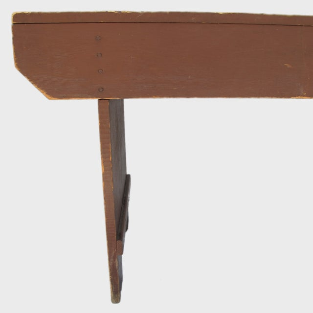 19th Century Antique Red Bench - Image 7 of 11