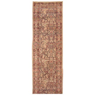 Antique 19th Century Persian Lavar Kerman Runner For Sale
