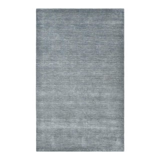 """Deloris, Contemporary Pewter 5' 0"""" x 8' 0"""" Handmade Area Rug For Sale"""