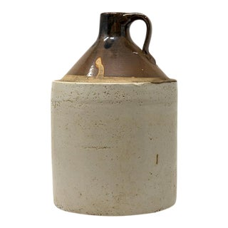 Vintage Cream Ceramic Jug For Sale