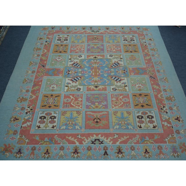 Vintage Turkish Anatolian Oushak Rug - 8'2″x9'3″ - Image 2 of 5