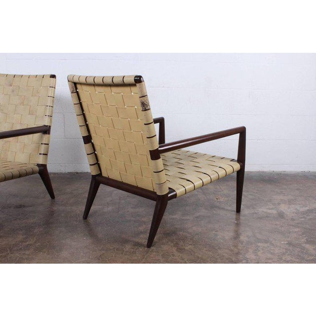 Tan Pair of Lounge Chairs by T.H. Robsjohn-Gibbings For Sale - Image 8 of 11