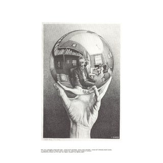 Escher m.c - Hand With Sphere - Offset Lithographe 1988 For Sale