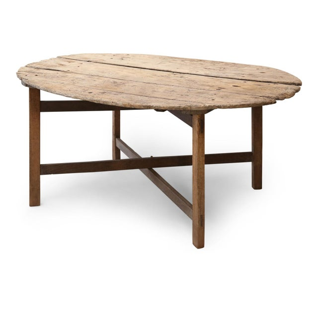 Brown Unusually Large Early Vendange Table For Sale - Image 8 of 13