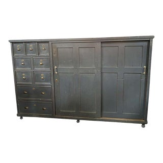 Antique French Charcoal Storage Cabinet For Sale