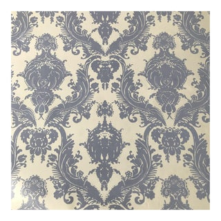 One Double Roll Tempaper Self Adhesive Wallpaper – Periwinkle and White For Sale