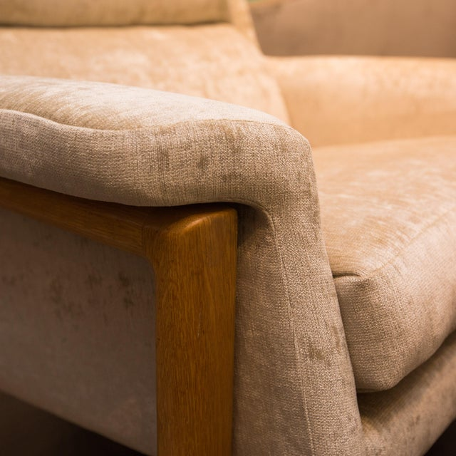 Crushed Velvet Lounge Chair/Ottoman (2 Available) - Image 7 of 8