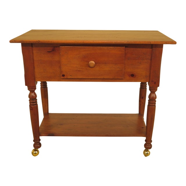 Habersham Plantation Country Distressed Cart Table For Sale