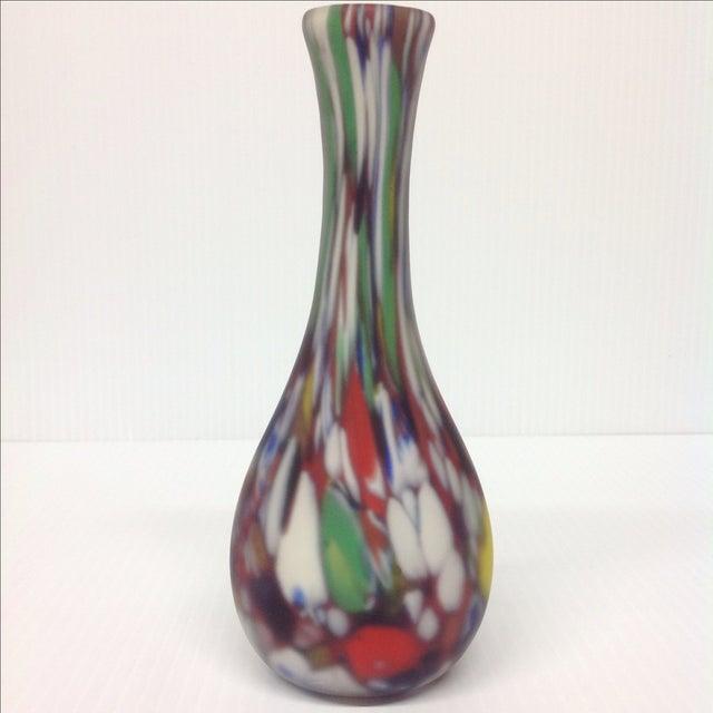 Murano Dino Martin Avem Murano Glass Tutti Frutti Vase For Sale - Image 4 of 6