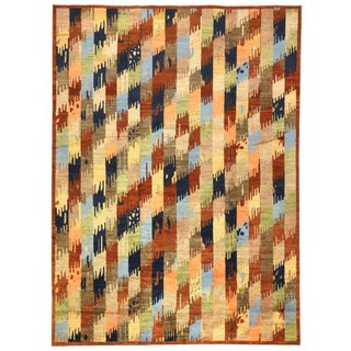 """Afghan Multi-Colored Transitional Rug-10'1'x14'1"""" For Sale"""