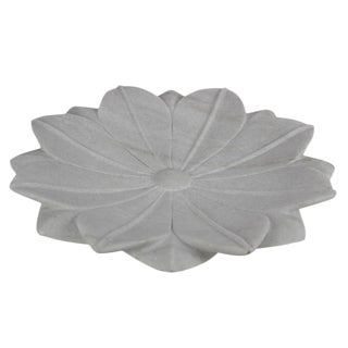 Large Blossoming Lotus Marble Plate For Sale