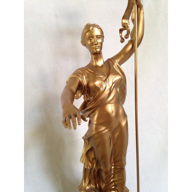 "Bronze ""Commonwealth"" Pennsylvania State Capitol Building Replica Statuette of Laetitia Penn For Sale - Image 7 of 8"