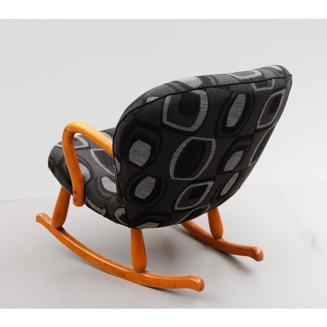 "Philip Arctander ""Clam"" Chair/Rocking Chair by Philip Arctander For Sale - Image 4 of 5"