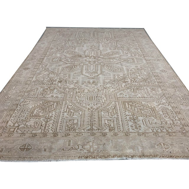 Textile Vintage Persian Heriz Rug Circa 1940 7' X 8'8 For Sale - Image 7 of 13