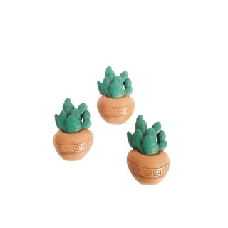 Vintage Burwood Cactus Wall Hangings - Set of 3