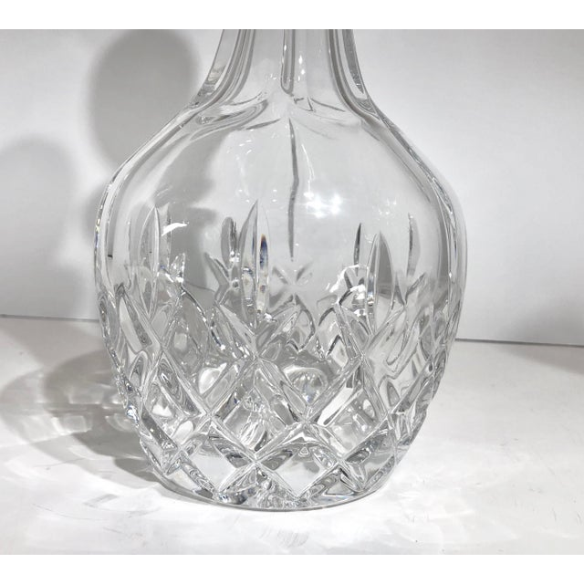 Vintage Gorham King Edward Crystal Clear Cut Glass Decanter For Sale - Image 9 of 13