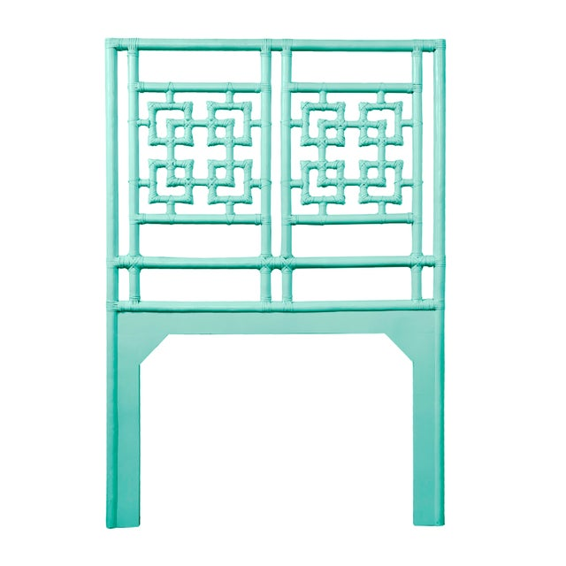 Not Yet Made - Made To Order Palm Springs Headboard Twin - Turquoise For Sale - Image 5 of 5