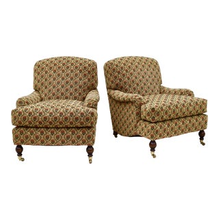 Brunschwig & Fils English Style Sherwood Chairs, Pair