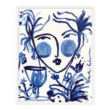 "Image of Medium ""Flowers and Wine Indigo II"" Print by Leslie Weaver, 25"" X 32"" For Sale"