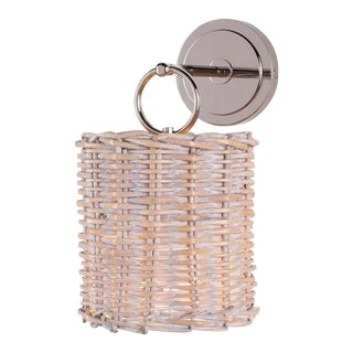 Nantucket Sconce in Polished Nickel For Sale