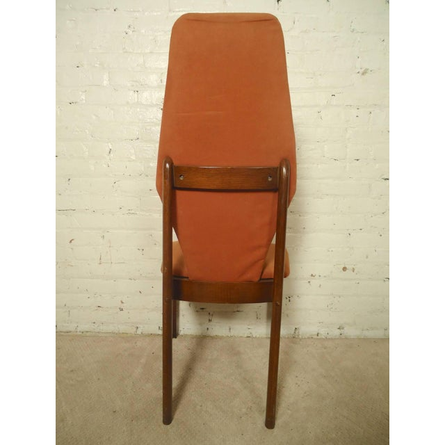 Adrian Pearsall Style Tall Back Chairs - a Pair - Image 5 of 7