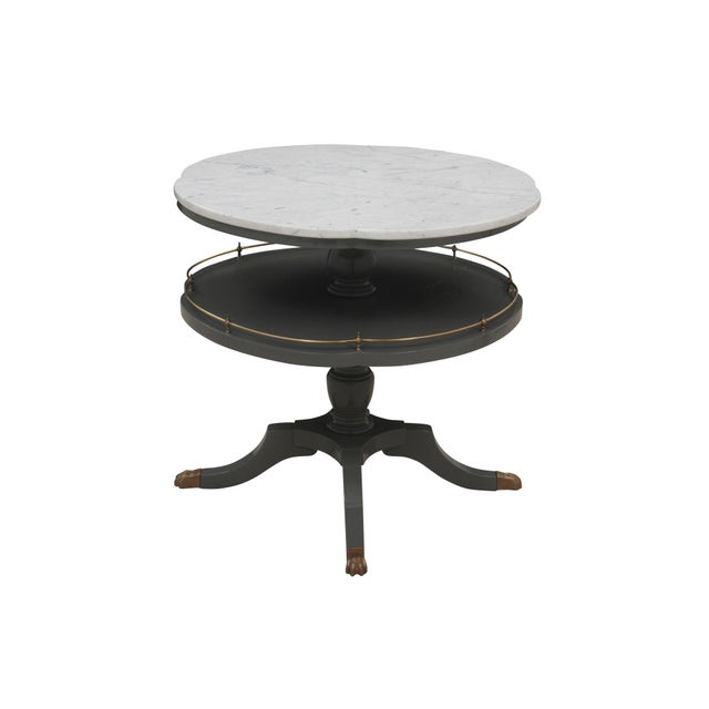 Quatrefoil Two Tier Table - Image 2 of 7