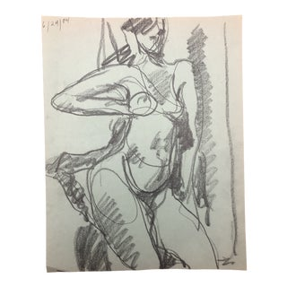 Modern Female Nude by James Bone 1984 For Sale