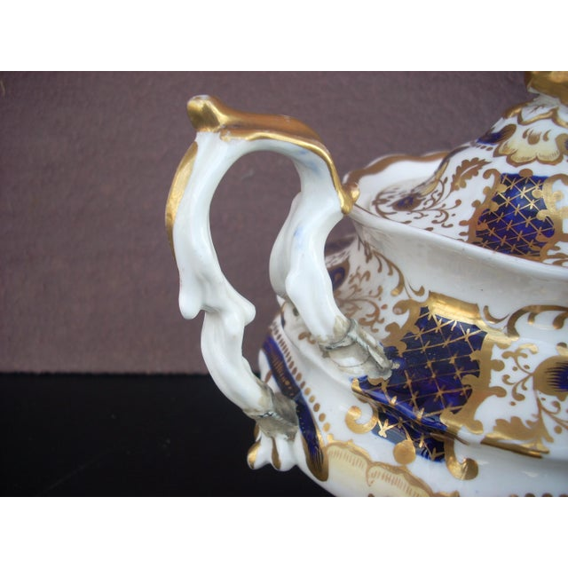 Ceramic Early 19th Century Antique Gaudy Welsh Sugar & Creamer For Sale - Image 7 of 8