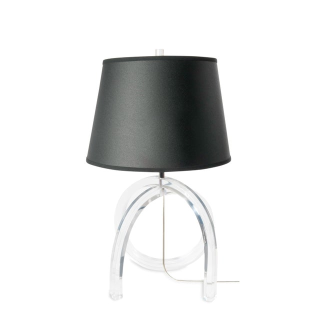 Lucite Loop Table Lamp - Image 5 of 5