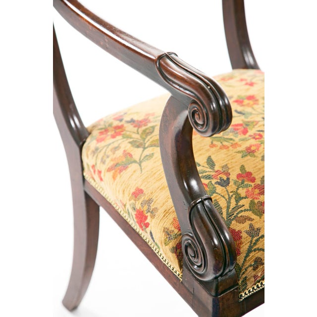 French Restoration Mahogany Armchair For Sale In San Francisco - Image 6 of 9