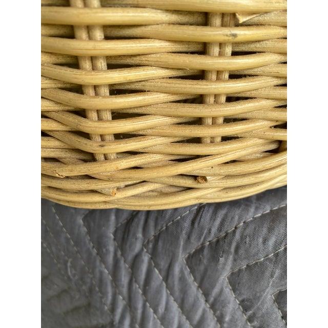 Boho Chic Vintage Coastal Wicker Elephant Basket For Sale - Image 3 of 13