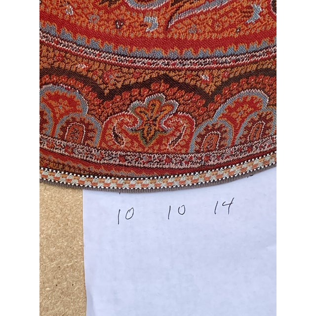 Paisley Wool Antique Fabric Lamp Shade For Sale - Image 4 of 6