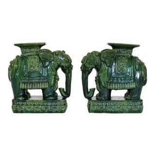 Elephant Garden Stools - a Pair For Sale