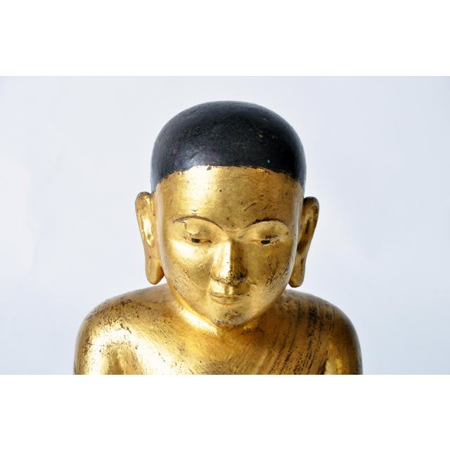 Giltwood Giltwood Buddhist Apostles- A Pair For Sale - Image 7 of 11