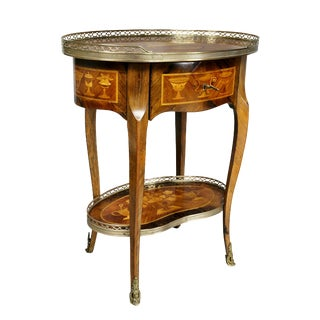 Louis XVI Style Marquetry Table A' Ecrire For Sale